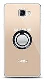 Samsung Galaxy A9 Siyah Tutuculu Şeffaf Kılıf