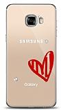 Samsung Galaxy C5 3 Taş Love Kılıf