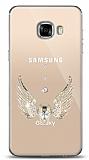 Samsung Galaxy C5 Angel Death Taşlı Kılıf