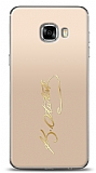 Samsung Galaxy C5 Gold Atatürk İmza Kılıf