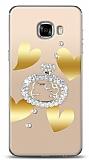 Samsung Galaxy C5 Lovely Kitty Taşlı Kılıf