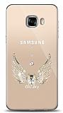 Samsung Galaxy C5 Pro Angel Death Taşlı Kılıf