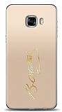 Samsung Galaxy C5 Pro Gold Atatürk İmza Kılıf