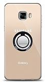 Samsung Galaxy C5 Pro Siyah Tutuculu Şeffaf Kılıf