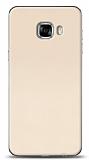 Samsung Galaxy C5 Pro Tam Kenar Koruma Gold Rubber Kılıf