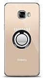 Samsung Galaxy C5 Siyah Tutuculu Şeffaf Kılıf