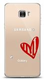 Samsung Galaxy C7 3 Taş Love Kılıf