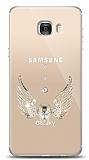 Samsung Galaxy C7 Angel Death Taşlı Kılıf