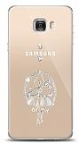 Samsung Galaxy C7 Balerin Taşlı Kılıf
