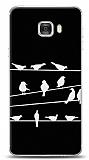 Samsung Galaxy C7 Birds Black Kılıf