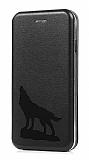 Samsung Galaxy C7 Kurt Kapaklı Siyah Kılıf