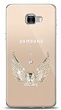 Samsung Galaxy C7 Pro Angel Death Taşlı Kılıf