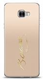 Samsung Galaxy C7 Pro Gold Atatürk İmza Kılıf