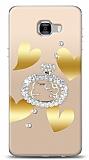 Samsung Galaxy C7 Pro Lovely Kitty Taşlı Kılıf