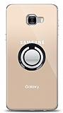 Samsung Galaxy C7 Pro Siyah Tutuculu Şeffaf Kılıf
