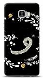 Samsung Galaxy C7 Pro Vav Harfi Taşlı Kılıf