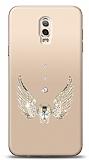 Samsung Galaxy C8 Angel Death Taşlı Kılıf