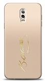 Samsung Galaxy C8 Gold Atatürk İmza Kılıf