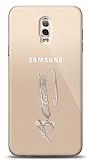 Samsung Galaxy C8 Silver Atatürk İmza Kılıf