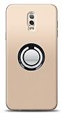 Samsung Galaxy C8 Siyah Tutuculu Şeffaf Kılıf