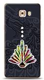 Samsung Galaxy C9 Pro Peacock Shine Taşlı Kılıf