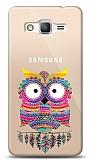 Samsung Galaxy Grand Prime / Plus Rainbow Owl Resimli Kılıf