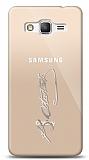 Samsung Galaxy Grand Prime / Plus Silver Atatürk İmza Kılıf