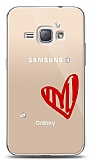 Samsung Galaxy J1 2016 3 Taş Love Kılıf