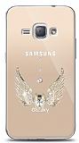Samsung Galaxy J1 2016 Angel Death Taşlı Kılıf