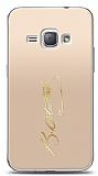 Samsung Galaxy J1 2016 Gold Atatürk İmza Kılıf