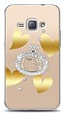 Samsung Galaxy J1 2016 Lovely Kitty Taşlı Kılıf