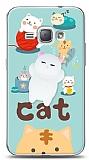 Samsung Galaxy J1 2016 Üç Boyutlu Sevimli Kedi Kılıf