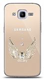 Samsung Galaxy J2 2016 Angel Death Taşlı Kılıf