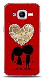 Samsung Galaxy J2 2016 Couple Love Taşlı Aynalı Kılıf