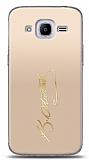 Samsung Galaxy J2 2016 Gold Atatürk İmza Kılıf