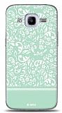 Samsung Galaxy J2 2016 Green Flower Kılıf