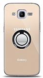 Samsung Galaxy J2 2016 Siyah Tutuculu Şeffaf Kılıf