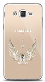 Samsung Galaxy J2 Angel Death Taşlı Kılıf