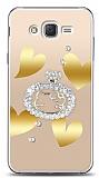 Samsung Galaxy J2 Lovely Kitty Taşlı Kılıf