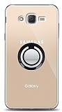 Samsung Galaxy J2 Siyah Tutuculu Şeffaf Kılıf