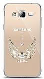 Samsung Galaxy J3 2016 Angel Death Taşlı Kılıf