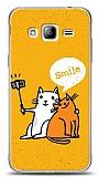 Samsung Galaxy J3 2016 Selfie Cat Kılıf