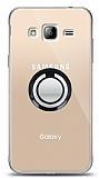 Samsung Galaxy J3 2016 Siyah Tutuculu Şeffaf Kılıf