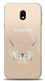 Samsung Galaxy J3 Pro 2017 Angel Death Taşlı Kılıf