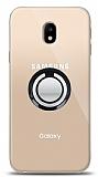 Samsung Galaxy J3 Pro 2017 Siyah Tutuculu Şeffaf Kılıf