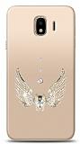 Samsung Galaxy J4 Angel Death Taşlı Kılıf