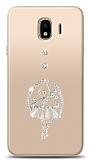 Samsung Galaxy J4 Balerin Taşlı Kılıf