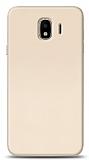 Samsung Galaxy J4 Tam Kenar Koruma Gold Rubber Kılıf