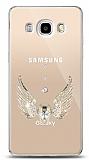 Samsung Galaxy J5 2016 Angel Death Taşlı Kılıf