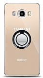 Samsung Galaxy J5 2016 Siyah Tutuculu Şeffaf Kılıf